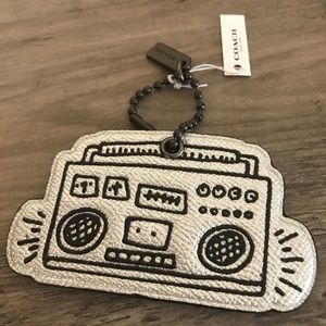 Coach Keith Haring Boombox Bag Charm NWT